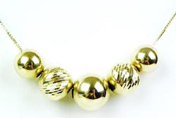 14K Yellow Gold Add-A-Bead Necklace, 25 Inches