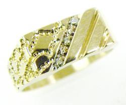 Men's Vintage 10K Diamond Ring