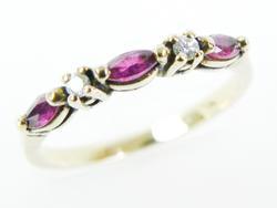 Versatile 10K Tourmalines & Diamonds Ring