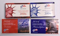 Year 2006 Complete Mint and Proof set Lot