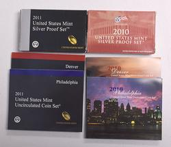 2010 & 2011 Mint Sets, and Silver Proof Sets