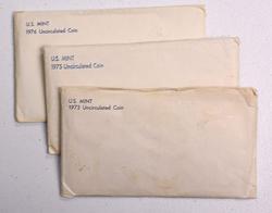 3 x US Mint Sets, 1973, 1975, 1976