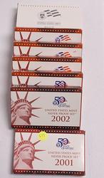 Silver Proof Set Run 2001-2007