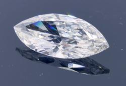 Icy 0.71CT Marquise Cut Diamond, Si1, I, EGLUSA