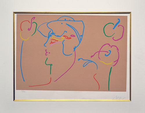 Peter Max Hand Signed Lithograph