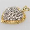 Shimmering 30 Diamond Heart Pendant, 14KT