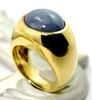 Massive 18K Man's Star Sapphire Ring