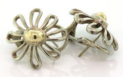 Tiffany & Co Flower Earrings in Two Tone