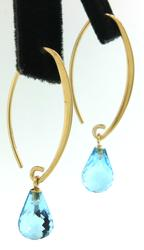Enchanting Blue Topaz Briolette Dangle Earrings