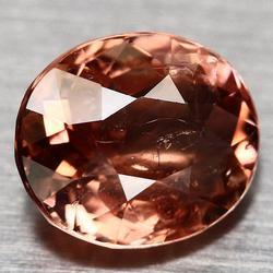 Superb 1.65ct peach pink Nigerian Tourmaline