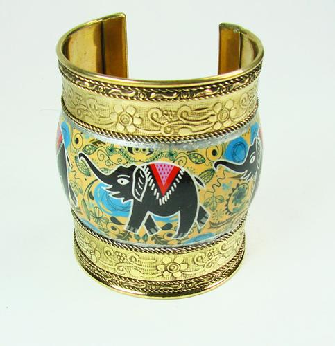 Fantastic Detailed Ethnic Art Handmade Cuff Bracelet