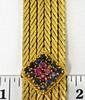Vintage 18K Bracelet with Touches of Color