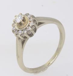 Scintillating Diamond Ring in 14kt White Gold