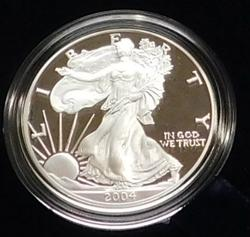 2004 PROOF Silver Eagle - Mint box & documentation