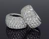 Elegant 3 plus CTW Diamond Hoop Earrings, 18K