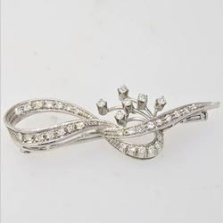 Superb 18KT and Diamond Brooch