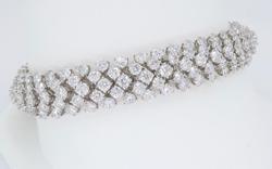 Royalty 14 plus CTW Diamond Bracelet, 18K