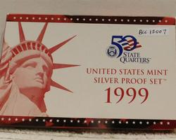 1999 Silver PROOF Set, rare and desirable date.
