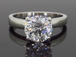 Classic 1.61CT Solitaire Platinum Engagement Ring