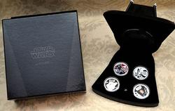 Niue Darth Vader 4 Coin Set, 2011 With Mask Case Priced to Sell