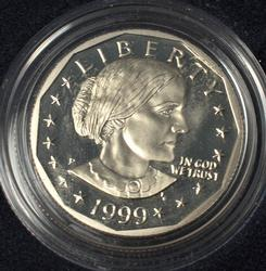 1999 Susan B Anthony Proof Dollar, OGP