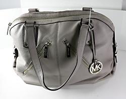 Michael Kors Large Grey Leather Satchel