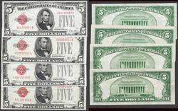 $5 1928 Series L.T 1928,A,B,C, first of the small size.