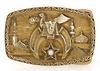 Shriners Emblem Belt Buckle with Diamond