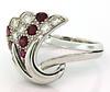 Vintage 18K Rubies & Diamond Jewelry Set, Certified