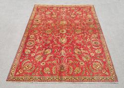 Semi Antique All Over Floral Persian Tabriz 10.4x7.3
