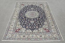 Authentic Semi Antique Wool/Silk Persian Nain 11.5x8.0