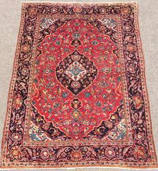 Very Fine 1960s Authentic Handmade Vintage Persian Rug