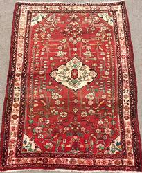 Charming 1950s Authentic Handmade Vintage Persian Borchaloo
