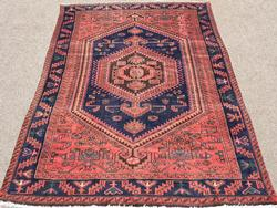 Charming 1950s Authentic Handmade Vintage Persian Rug