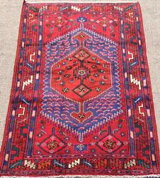 Charming Mid C. Authentic Handmade Vintage Persian Asad-Abad