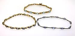 A Trio of Tanzanite & Diamond Bracelets
