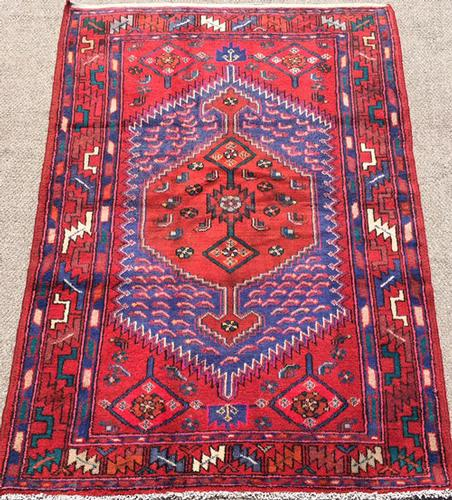 Charming Mid C. Authentic Handmade Vintage Persian Mission