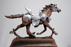 Marvelous High Quality Armoured Hourse Figurine