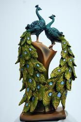 Exquisite Highly Decorative Peacock Status