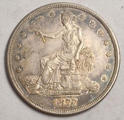 Toned 1877 S Near Uncirculated Trade Dollar