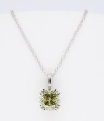 GIA Certified .61CT Cushion Cut Diamond Necklace