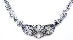 Ornate Sterling Filigree Statement Necklace