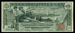 Very scarce 1896 Series $1 'Educational' note. Nice