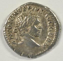 Great Caracalla Silver Denarius with Apollo, 198-217 AD