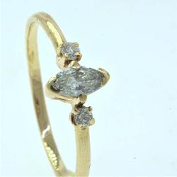 Charming Diamond Ring, in Gold