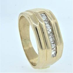 Solid Channel Set Baguette Diamond Ring