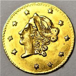 1871 Ca Gold Round Half Dollar Near Unc plus
