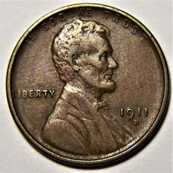 Sharp 1911-D Lincoln Cent