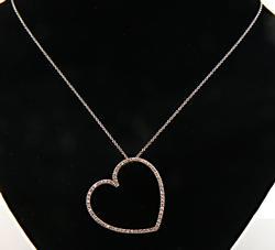 Timeless Open Heart Diamond Pendant Necklace
