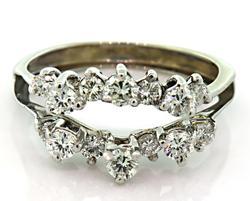 Very Nice Multi Diamond Ring Wrap in 18K